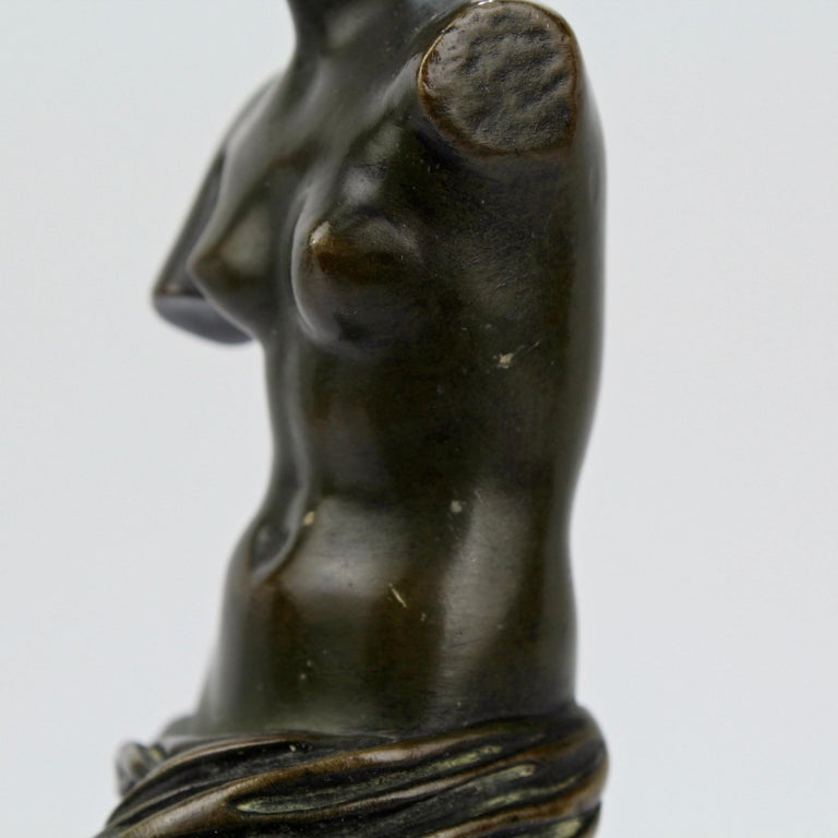 Cabinet Size Bronze Sculpture of Venus de Milo after Ron Liod Sauvage For Sale 6