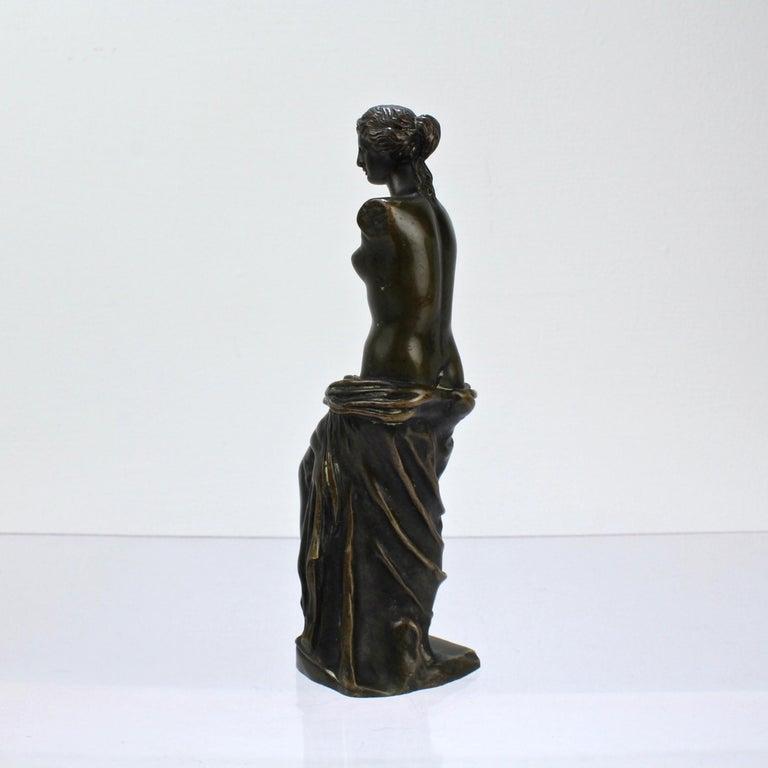 French Cabinet Size Bronze Sculpture of Venus de Milo after Ron Liod Sauvage For Sale