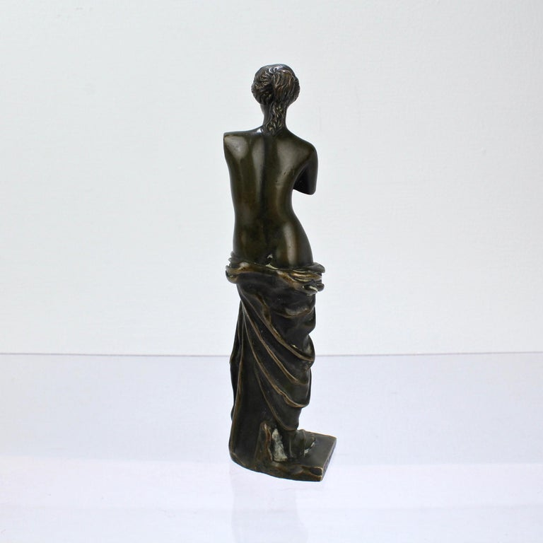 Cabinet Size Bronze Sculpture of Venus de Milo after Ron Liod Sauvage In Good Condition For Sale In Philadelphia, PA