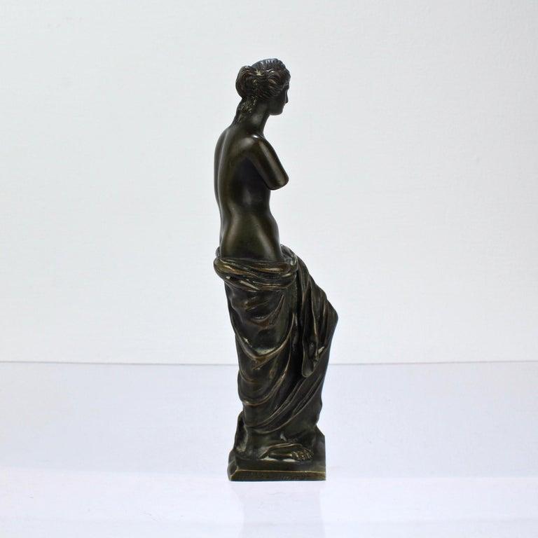 20th Century Cabinet Size Bronze Sculpture of Venus de Milo after Ron Liod Sauvage For Sale
