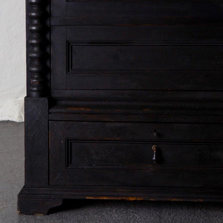 Empire Cabinet Swedish Black 19th Century, Sweden For Sale