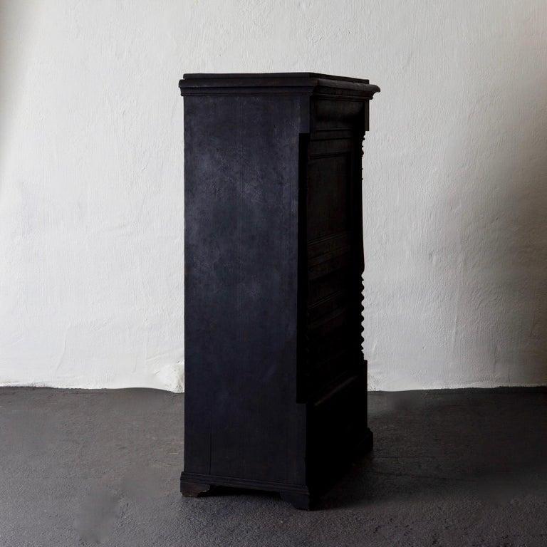 Cabinet Swedish Black 19th Century, Sweden For Sale 5