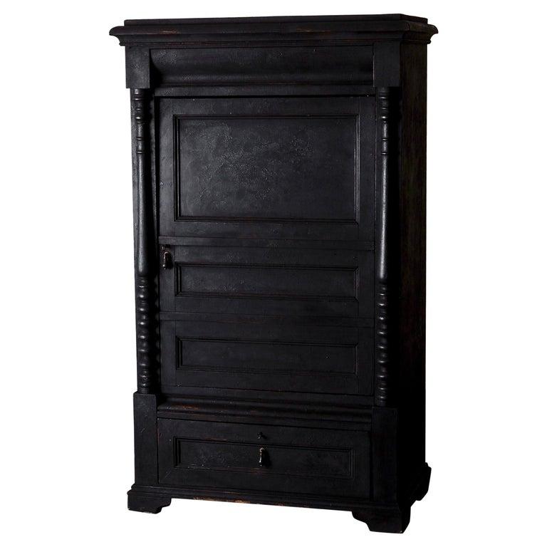 Cabinet Swedish Black 19th Century, Sweden For Sale