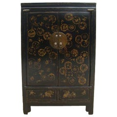 Cabinet with Hand Painted Dandelions
