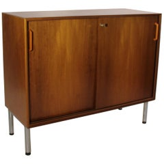 Cabinet with Sliding Doors in Light Mahogany of Danish Design from the 1960s
