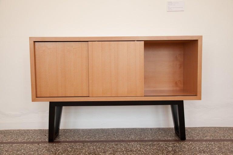 Greek 21st Century, Minimalist, European, Beechwood Cabinet with Solid Beechwood Legs For Sale