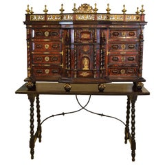 Cabinet with Table, Tortoiseshell, Bronze, Etc, Italy, 17th Century and Later