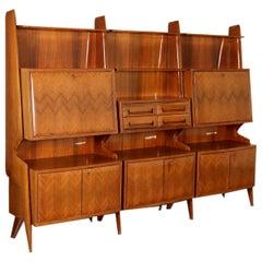 Cabinet Wood Veneer Vintage, Italy, 1950s-1960s
