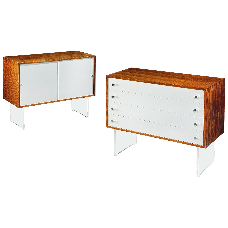Cabinets, Pair, Poul Nørreklit, for Georg Petersens, Danish, Modern, 1970,