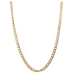 Cable Chain Necklace, 14 Karat Yellow Gold