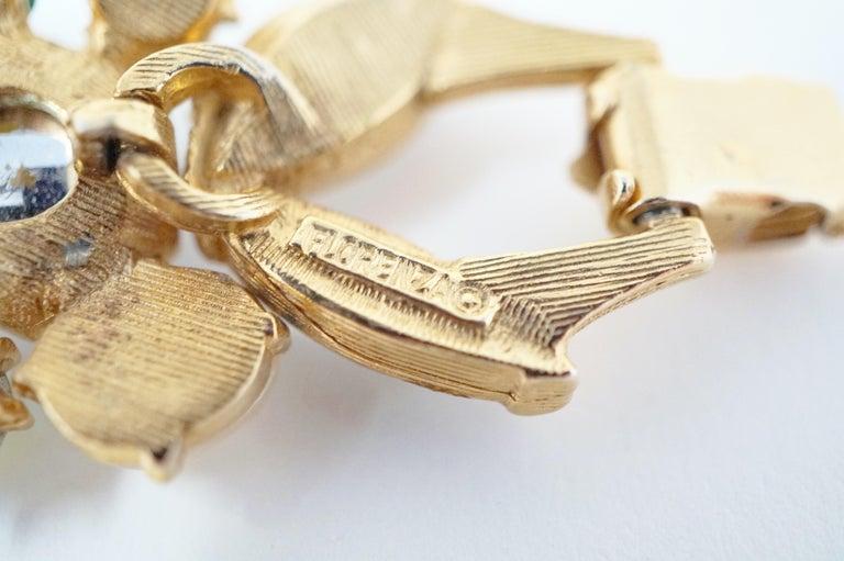 Cabochon Medley Statement Bracelet by Florenza, Signed, circa 1960 For Sale 6