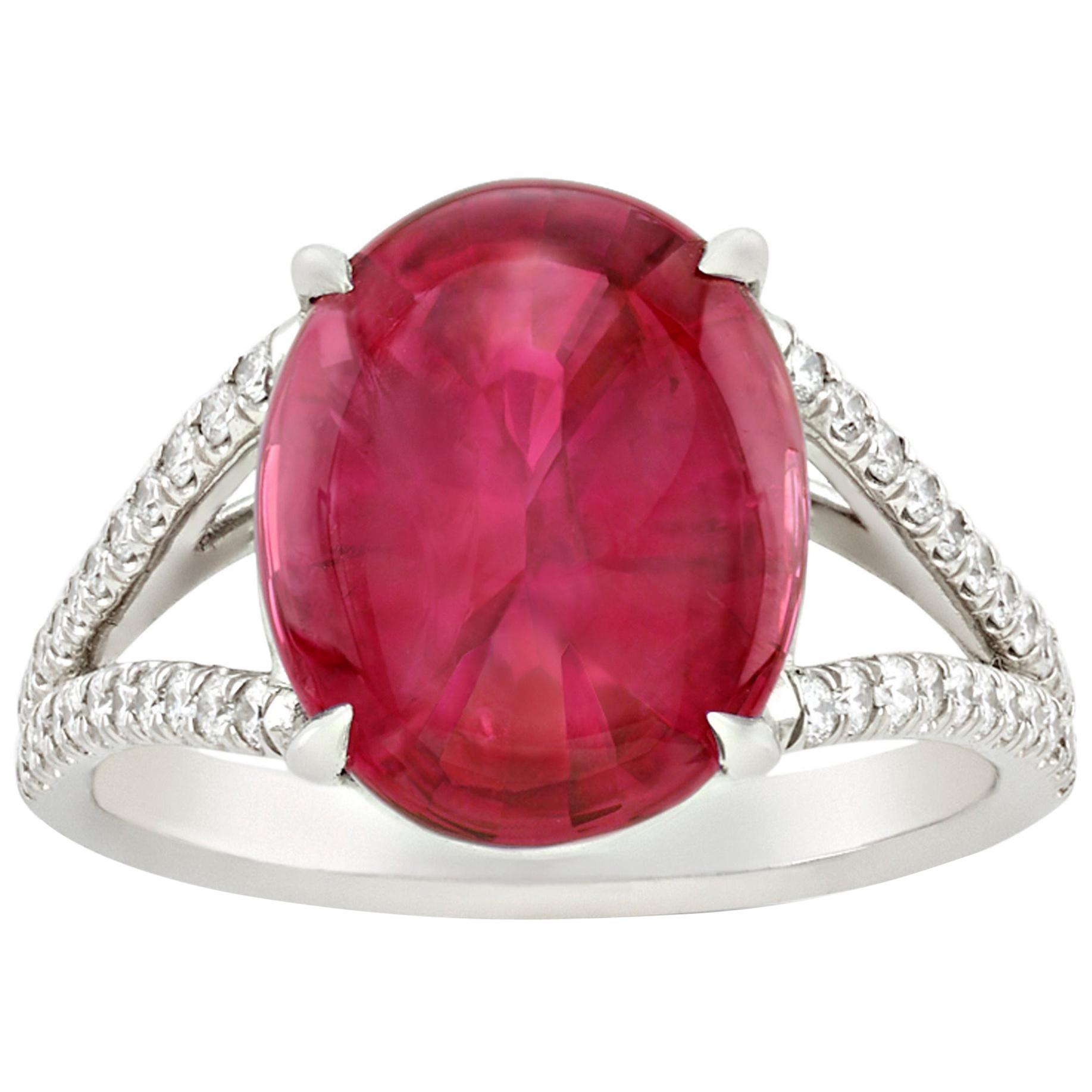 Cabochon Ruby Ring, 8.03 Carat