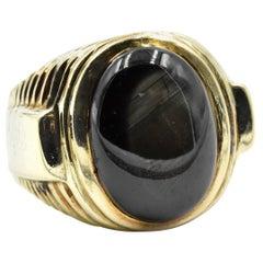 Cabochon Star Sapphire Ring 14 Karat Yellow Gold