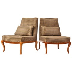 Cabriole Legged Slipper Chairs