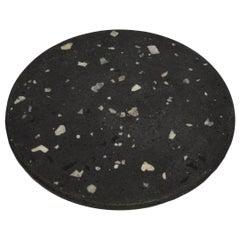 Cacao Black Terrazzo Round Board