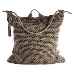 21st Century Asian Cacao Brown  Outdoor Indoor Handmade Bag Cushion