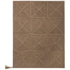 Cacao Brown Outdoor Indoor Small Rug Handmade Crochet in UV Protected Yarn