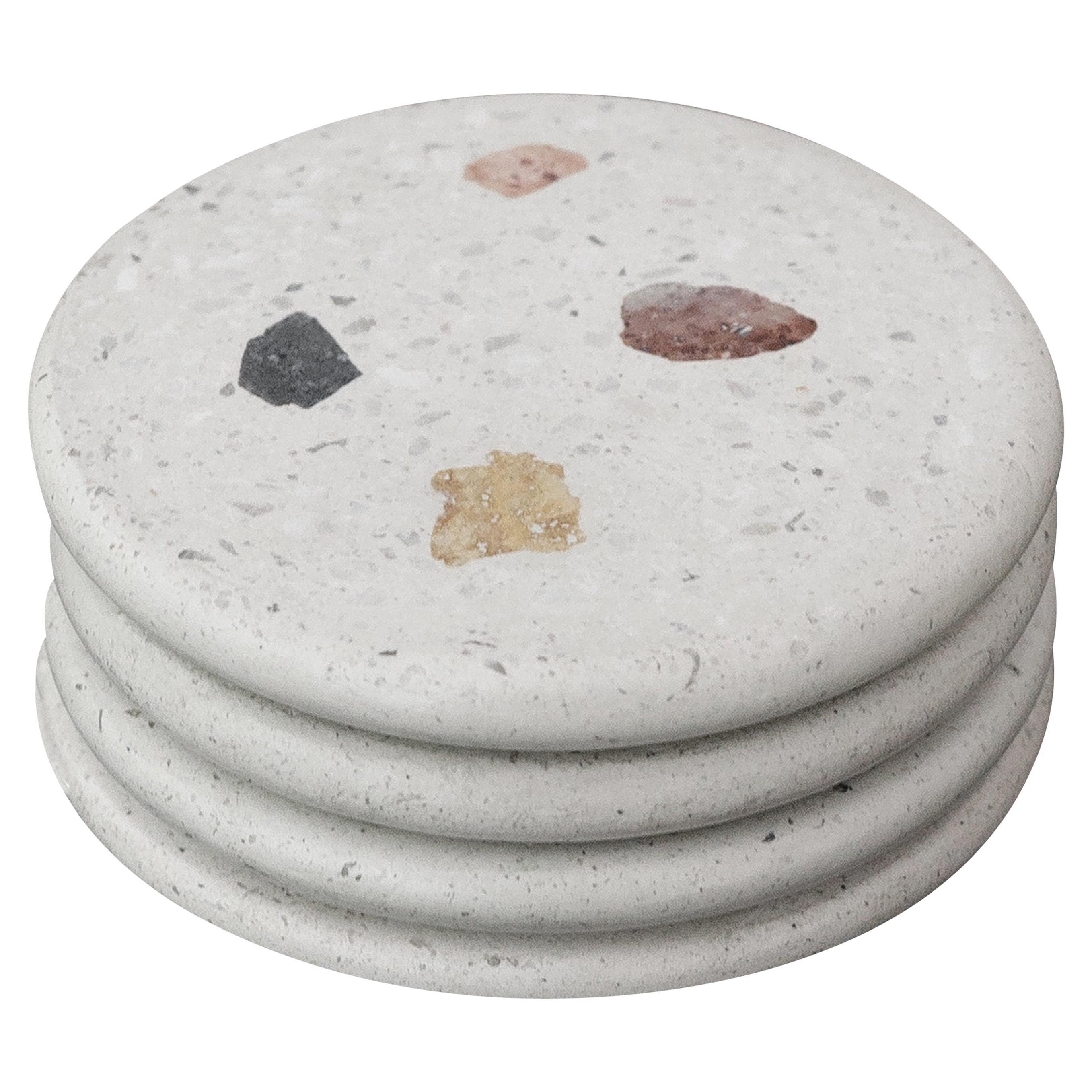 Cacao White Terrazzo Coasters Set