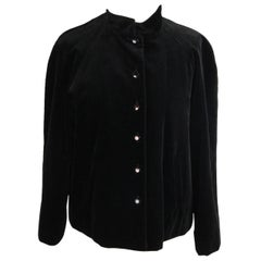 CACHAREL Black Velvet JACKET Size 38/6
