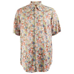 Cacharel Mens Vintage Short Sleeve Shirt, 1980s