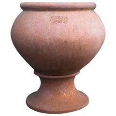 Cache Pot Grande Con Orlo Terracotta Impruneta