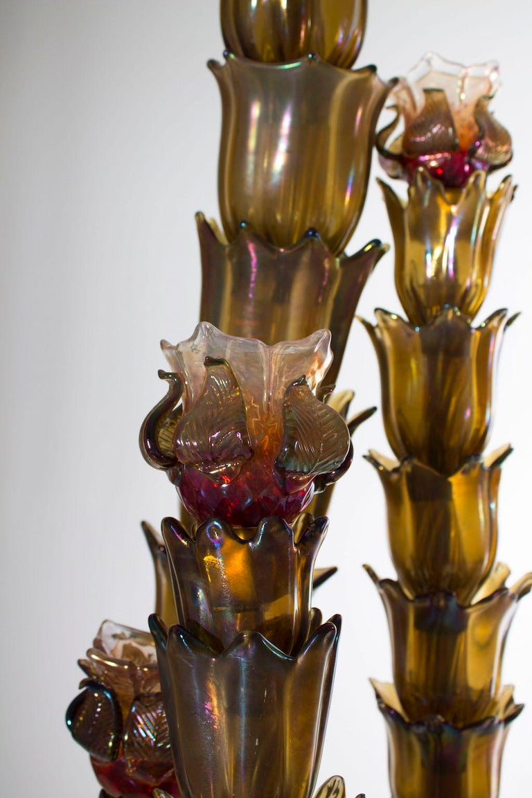 Cactus Floor Lamp in the Style of Napoleone Martinuzzi, Murano, Italy, 1950s For Sale 2