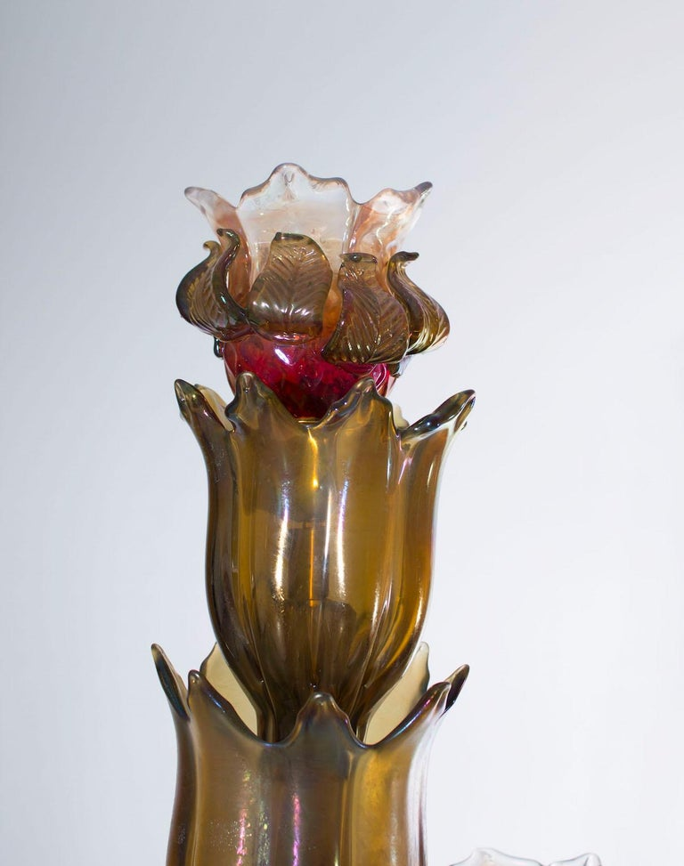 Cactus Floor Lamp in the Style of Napoleone Martinuzzi, Murano, Italy, 1950s For Sale 3
