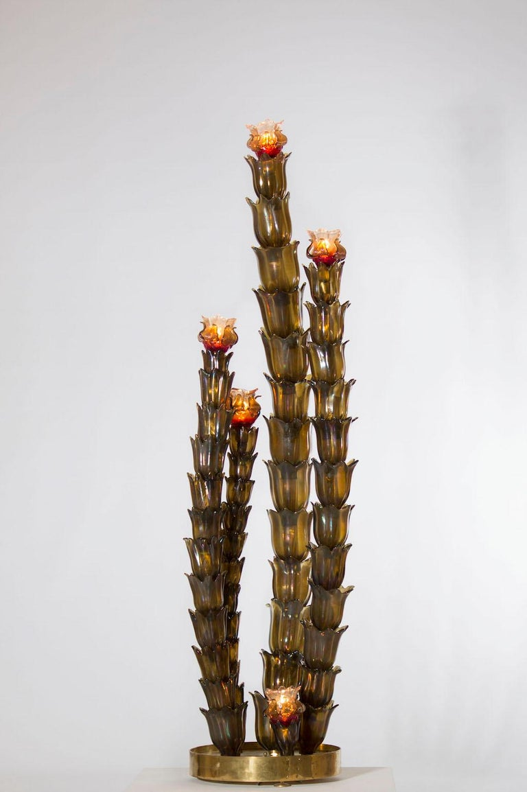 Cactus Floor Lamp in the Style of Napoleone Martinuzzi, Murano, Italy, 1950s For Sale 4