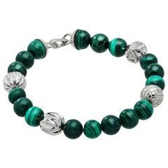 Cactus Malachite & Silver Bracelet