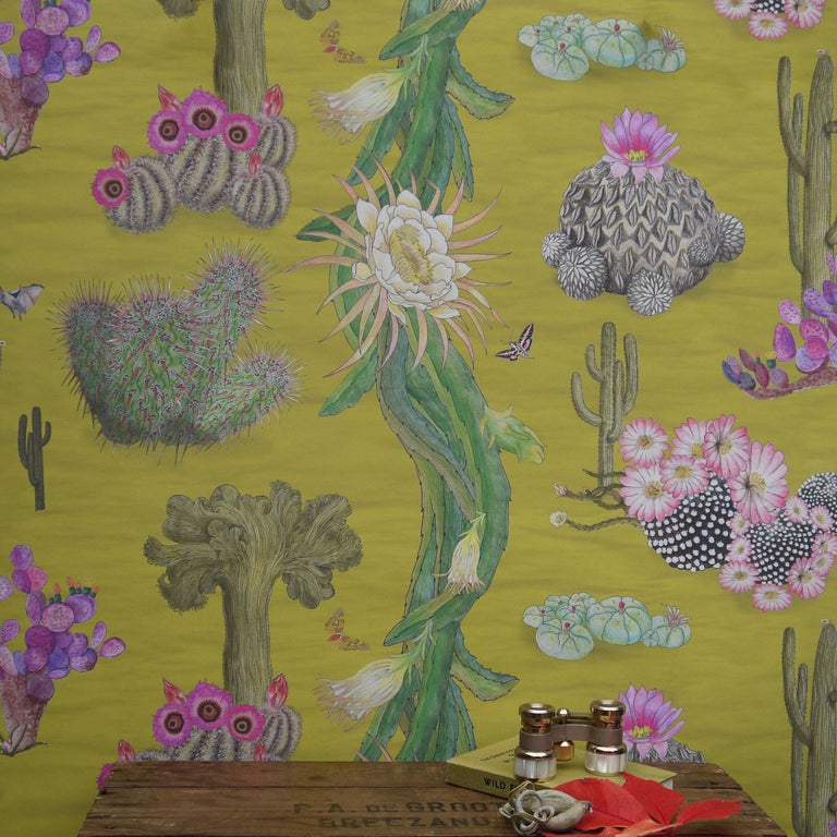 This design is the culmination of several years Dr Susy Paisley spent living in, and besotted with, Mexico. It celebrates the incredible diversity of Mexican cacti. Mexico is one of the world's centre of endemism for this group of plants, and