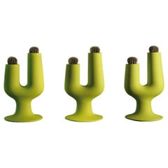 Cactus Plant Vase in Matte Acid Green Polyethylene by Giulio Iacchetti for Plust