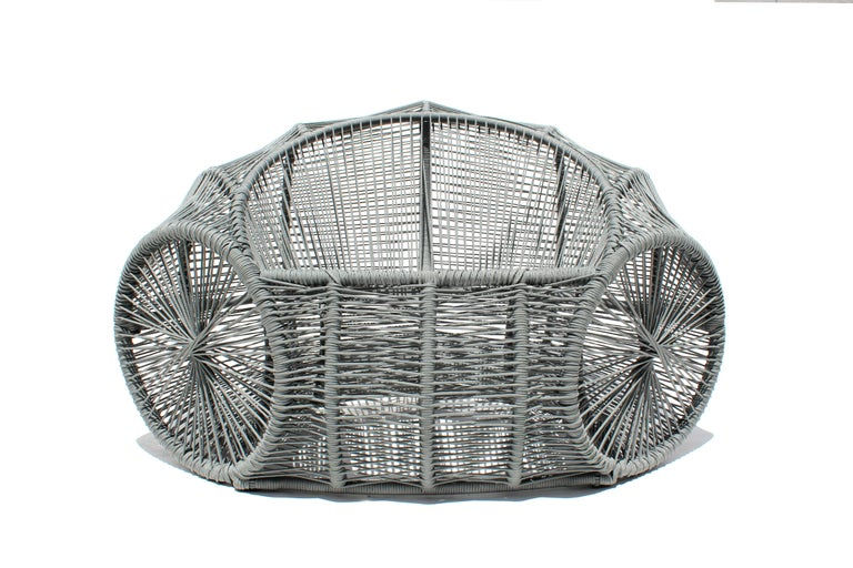 Caçuá Armchair in Wicker, Contemporary Brazilian Design For Sale 1