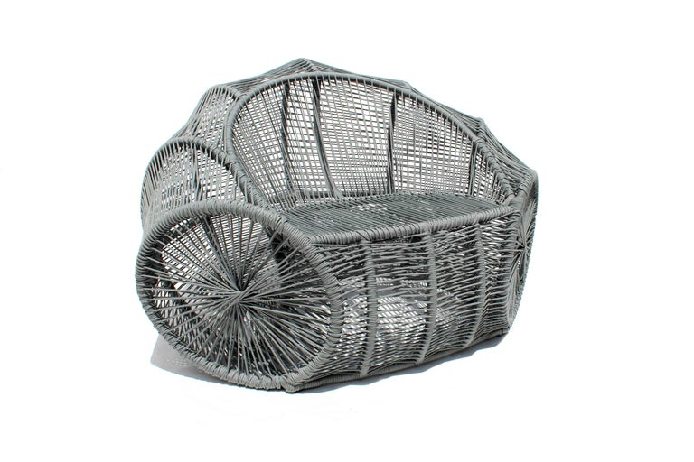 Caçuá Armchair in Wicker, Contemporary Brazilian Design For Sale 2