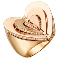 Cadar Endless Cocktail Ring, 18 Karat Rose Gold and White Diamonds