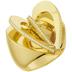 CADAR Endless Cocktail Ring, 18K Yellow Gold and White Diamonds