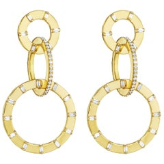 CADAR Unity Earrings in 18K Yellow Gold and 1.94 Carat Diamond