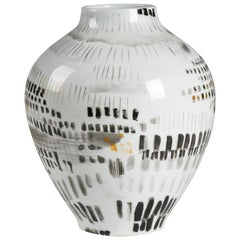 Cade Decorative Abstract Vase in Porcelain by CuratedKravet