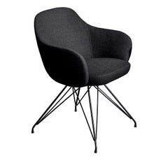 Cadira Wire Black Chair with Armrests