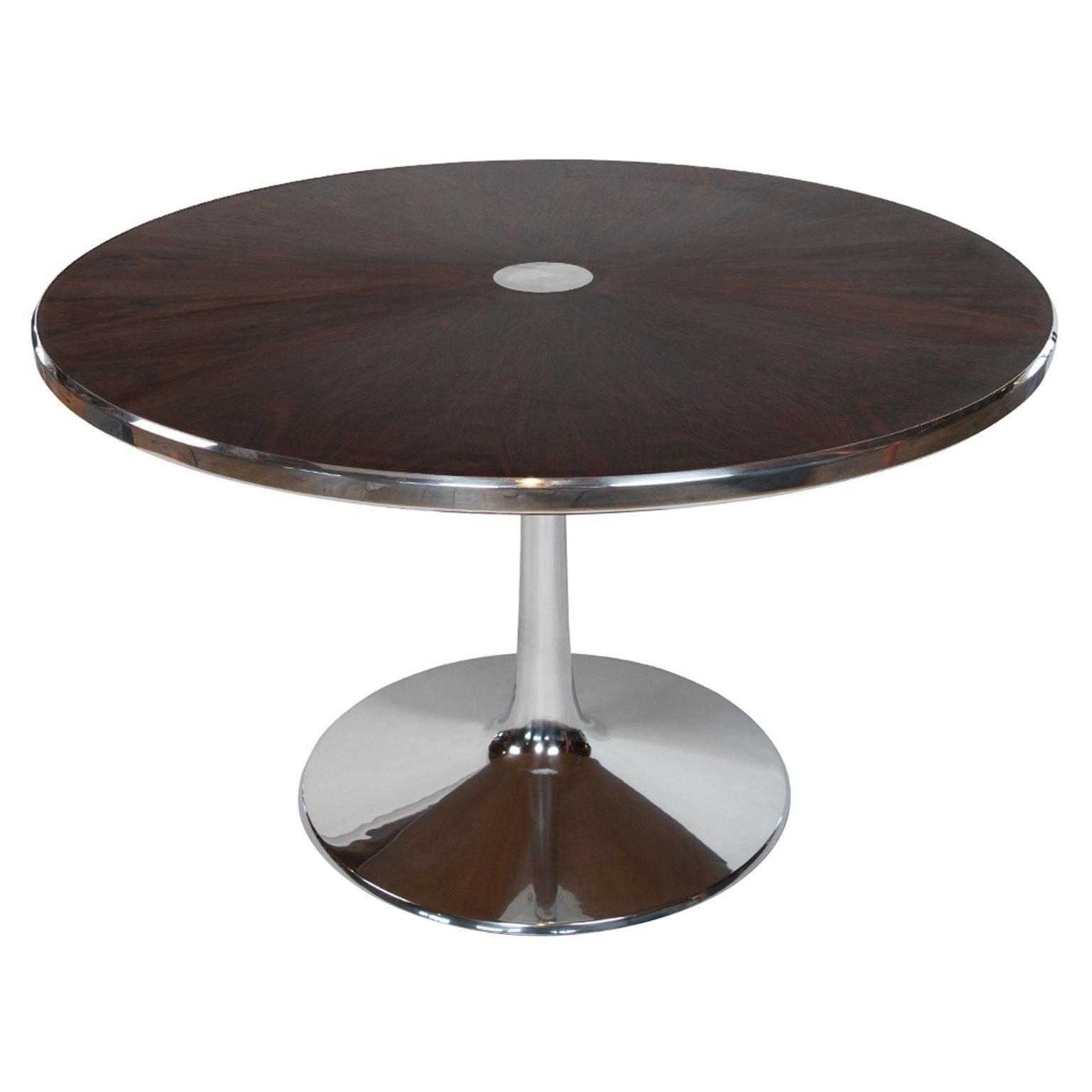 Cado Rosewood & Aluminum Dining Table