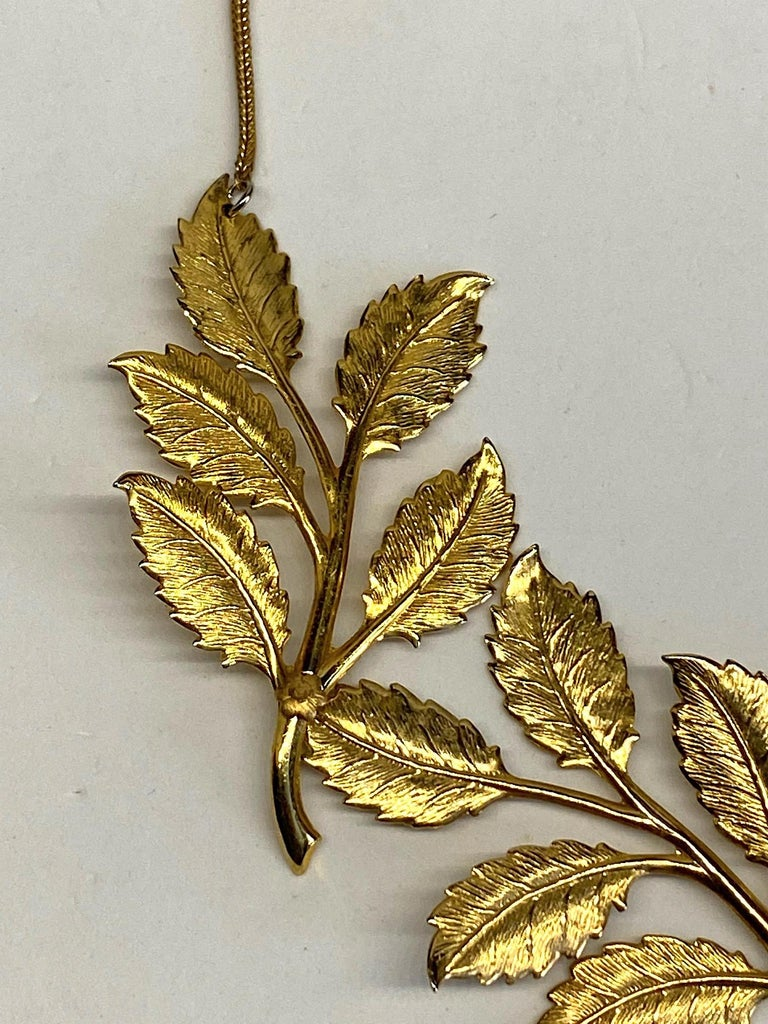 Cadoro 1960s Gold Laurel Leaf Victory Neclace For Sale 5