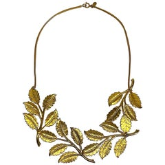 Cadoro 1960s Gold Laurel Leaf Victory Neclace