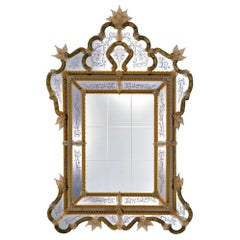 CA'D'ORO, Murano Glass Mirror in Venetian Style by Fratelli Tosi, Made in Italy