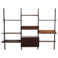 Cadovius Midcentury Danish Modern Walnut Cado Wall Unit for Home or Office