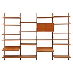 Cadovius Mid-Century Modern Modular Wall Unit Royal System Made in Denmark 1960