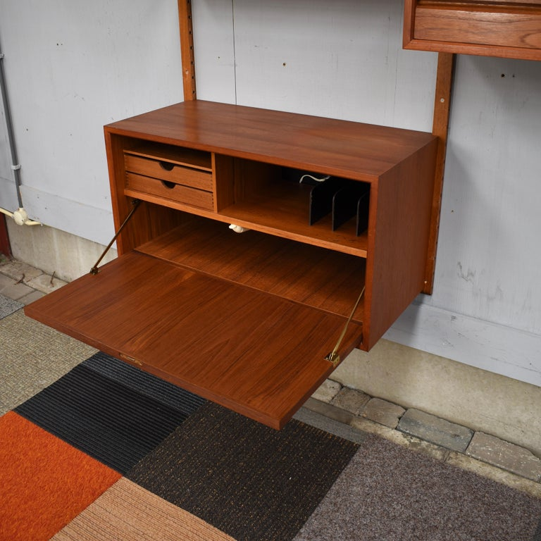 Cadovius Royal Wall Unit in Teak, Denmark, 1950s In Good Condition For Sale In Pijnacker, Zuid-Holland
