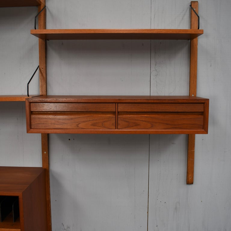 Metal Cadovius Royal Wall Unit in Teak, Denmark, 1950s For Sale