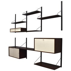 Cadovius Royal Wall Unit in Wenge, Denmark, circa 1960