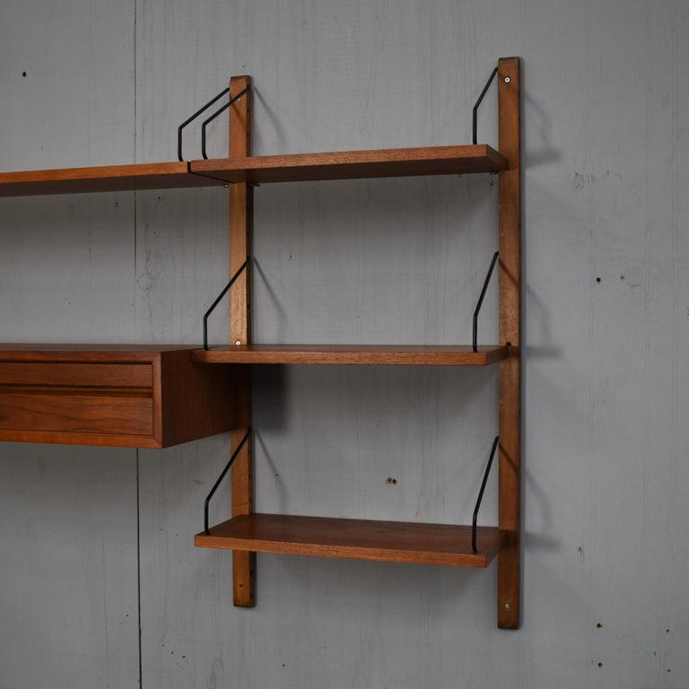 Cadovius Wall Unit 'Royal' Series in Teak - Denmark, 1950s For Sale 5