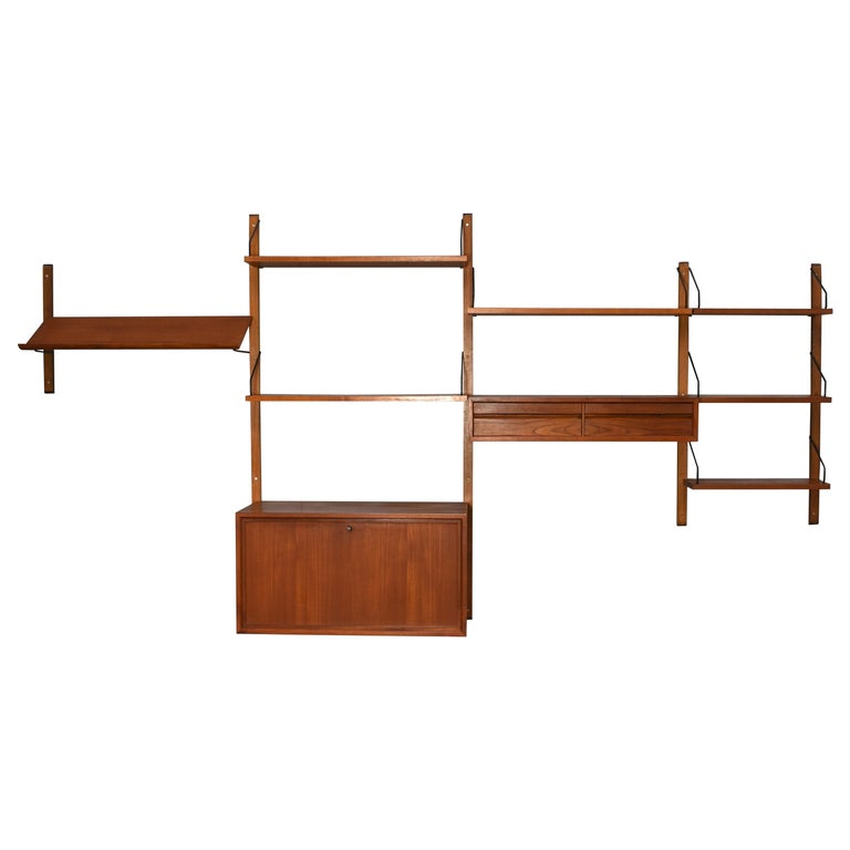 Cadovius Wall Unit 'Royal' Series in Teak - Denmark, 1950s For Sale