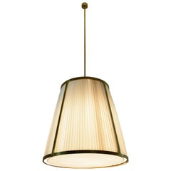 Caeli-I Contemporary Monumental Brass Pendant Light, Flow Collection
